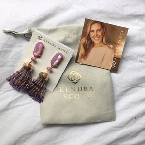 {Kendra Scott} DOVE Earrings - Lilac/Rose Gold